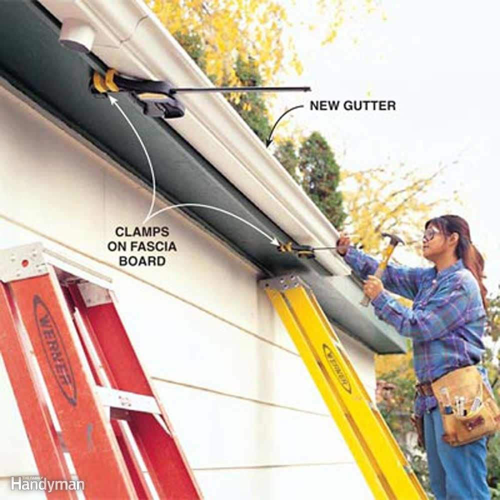 Tips For Easier Diy When You Work By Yourself Easy Diy How To Install Gutters Diy Gutters