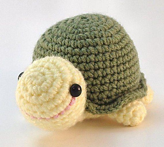 Green Crocheted Turtle, Crocheted Turtle, Amigurumi Turtle