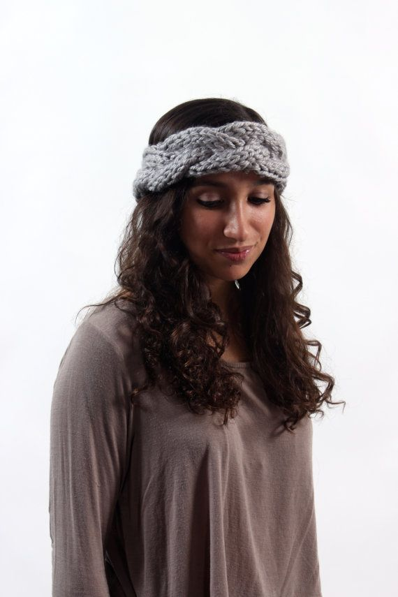 hand knit twist braid winter headband only 15 dollars etsy