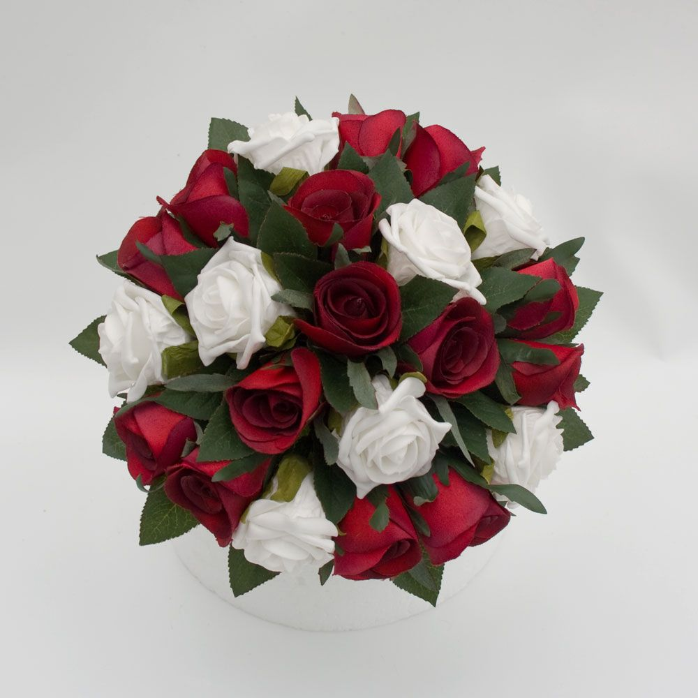 Wedding bouquets red and white roses  white and red rose bouquet  natalies wedding lol  Pinterest