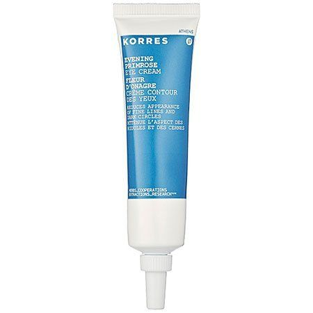 Korres Eye Cream, Evening Primrose, 0.68 Ounce by Korres. $27.79. Evening primrose oil rich in fatty acids, provides hydration and nourishes the skin. Hydrates and nourishes the delicate skin around the eyes. Visibly diminishes the look of dark circles. This eye cream contains evening primrose oil, which is rich in fatty acids, vitamin b5 and ruscus extracts. Evening primrose oil enriched eye cream reduces the look of fine lines and dark circles.