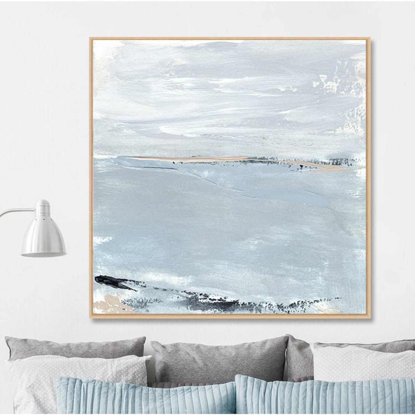 Large Framed Art Canvas Print Large Abstract Landscape Float Etsy Large Framed Wall Art Large Framed Art Affordable Wall Art