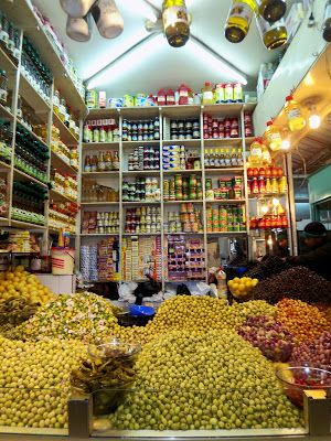 Tangier Old City Markets Morocco | olives and other products at the main food market berber