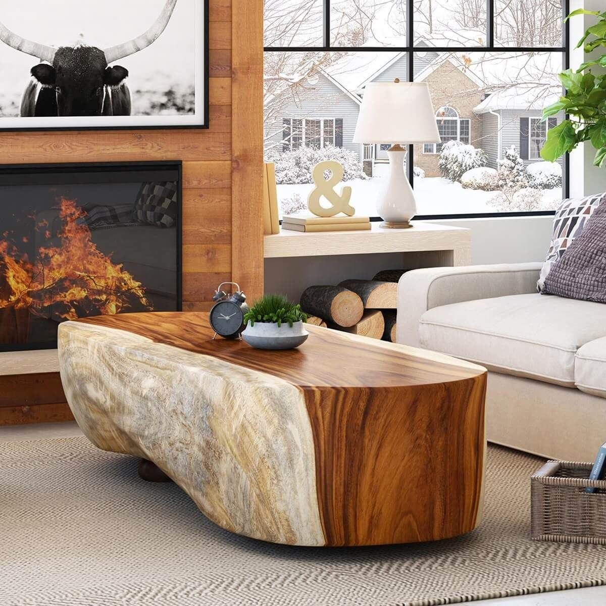 Montrose Handcrafted Suar Wood Large Block Coffee Table Solid Wood Coffee Table Coffee Table Wood Coffee Table [ 1200 x 1200 Pixel ]