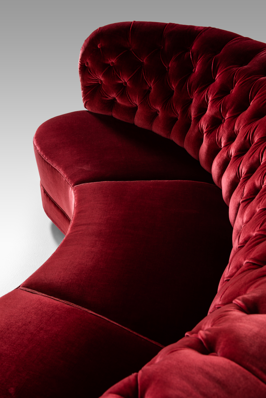 Sofa Red Velvet
