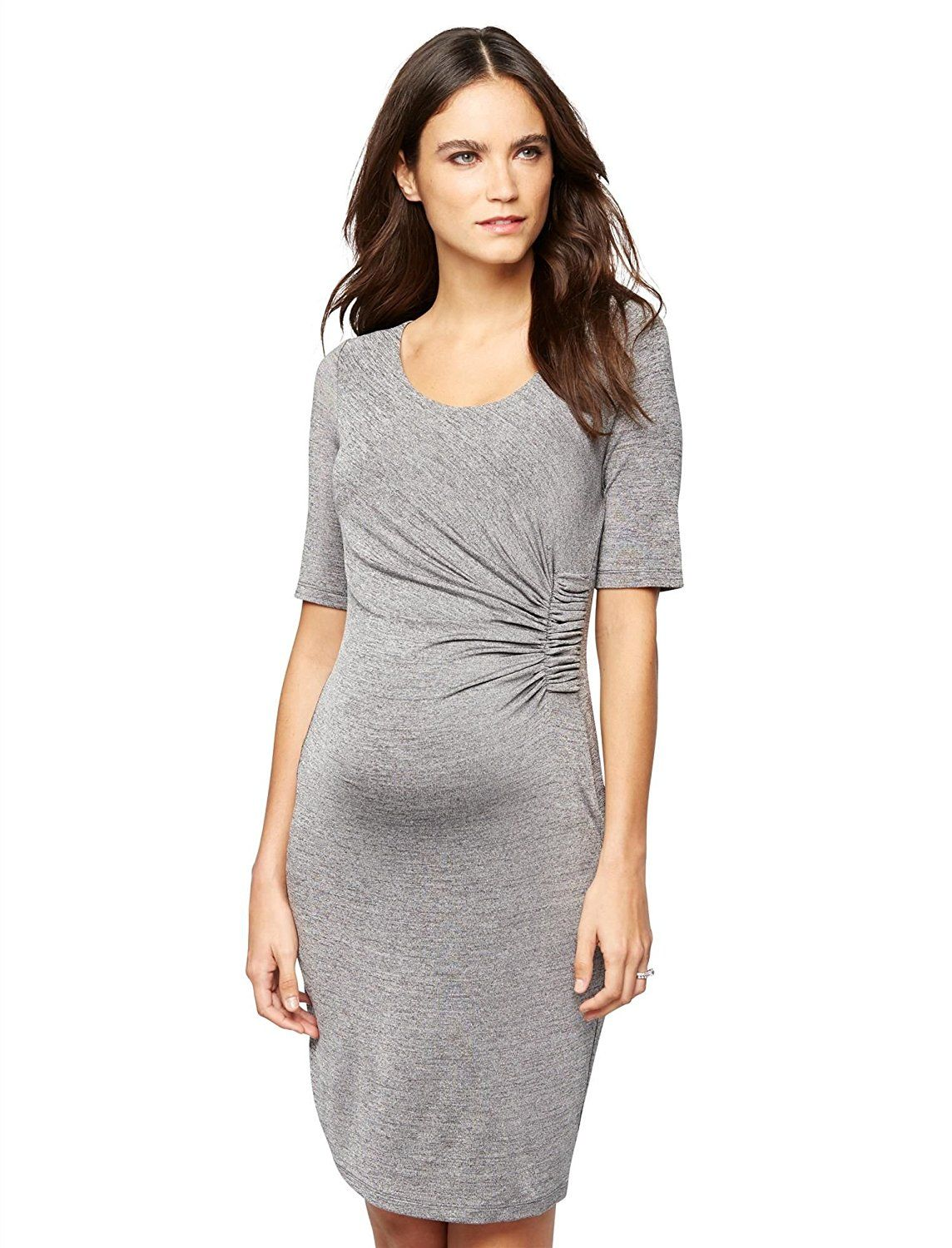 b95a4076019b9 A Pea in the Pod Ruched Maternity Dress at Amazon Women's Clothing store: