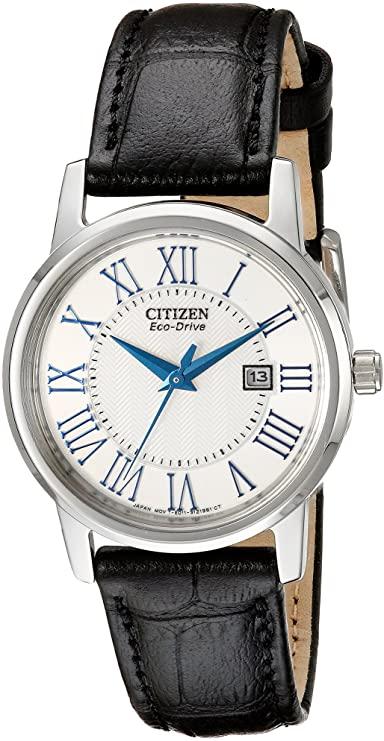 Citizen Eco-Drive roestvrijstalen dameshorloge met datum, EW1568-04A: horloge ... ,  #Citizen #dameshorloge #datum #EcoDrive #EW156804A #horloge #met #roestvrijstalen