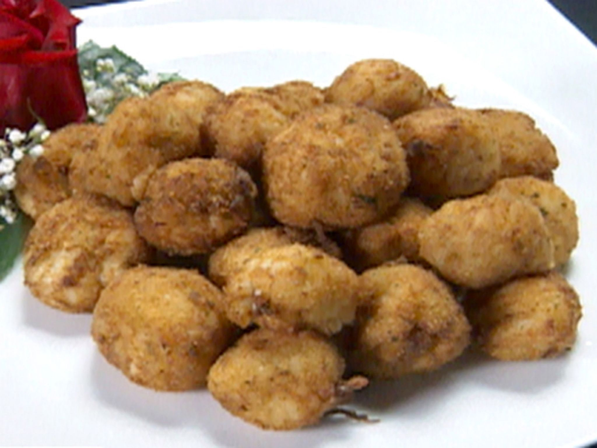Crab and Sushi Rice Fritters recipe from Robert Irvine via Food Network