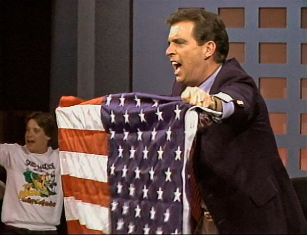 Morton Downey Jr.: OMG. Remember this guy? His late night show looked like it was produced for $50. All their budget went to his nasty cigarettes he chain smoked.