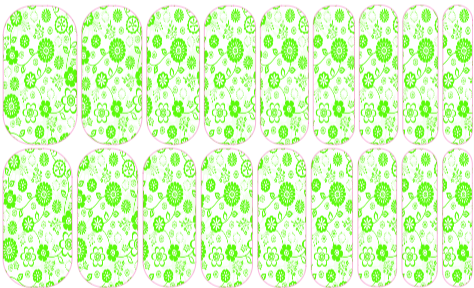 Green Floral --- My custom Jamberry NAS design. If interested message me. $25 a sheet (includes the setup fee)