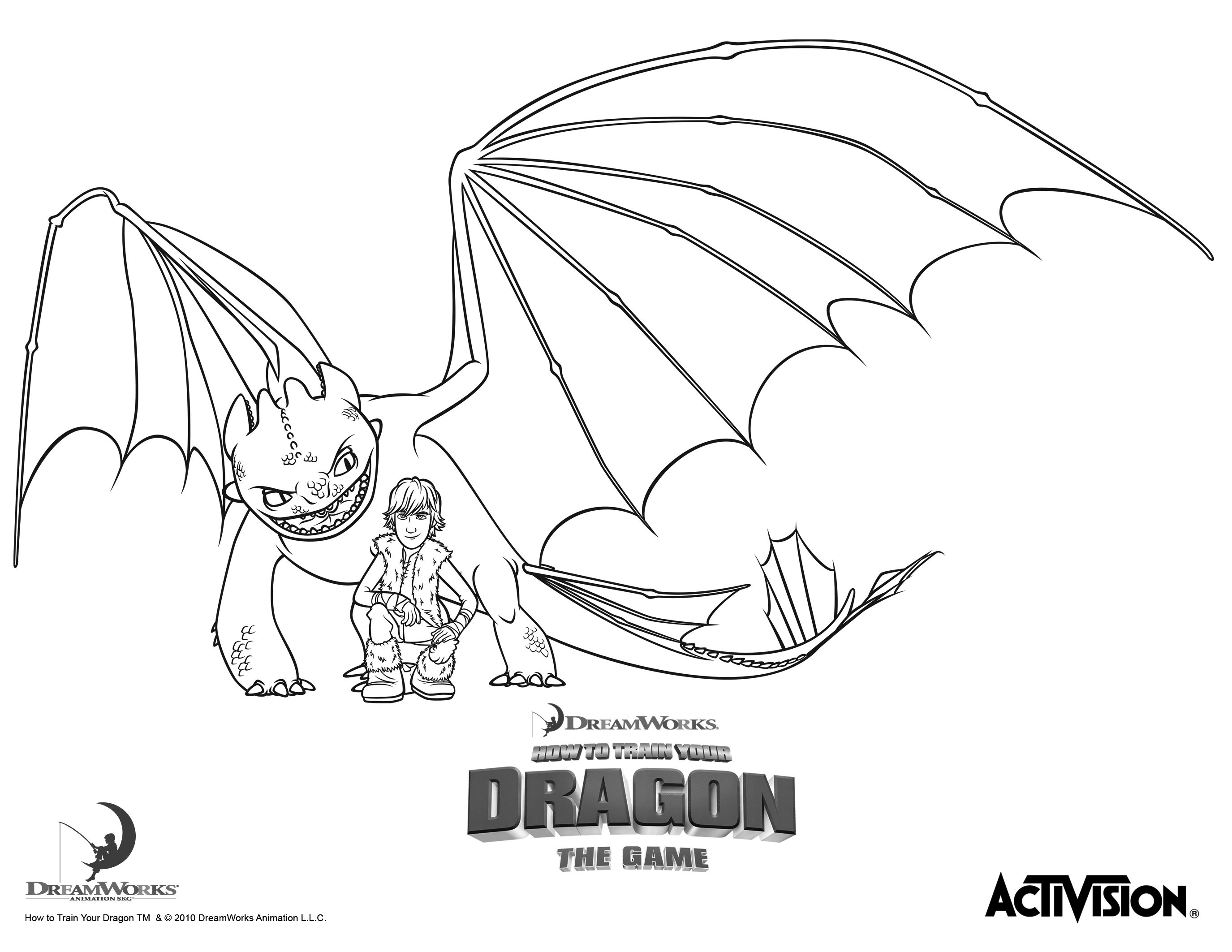 Hiccup And Night Fury How To Train Your Dragon Coloring Pages
