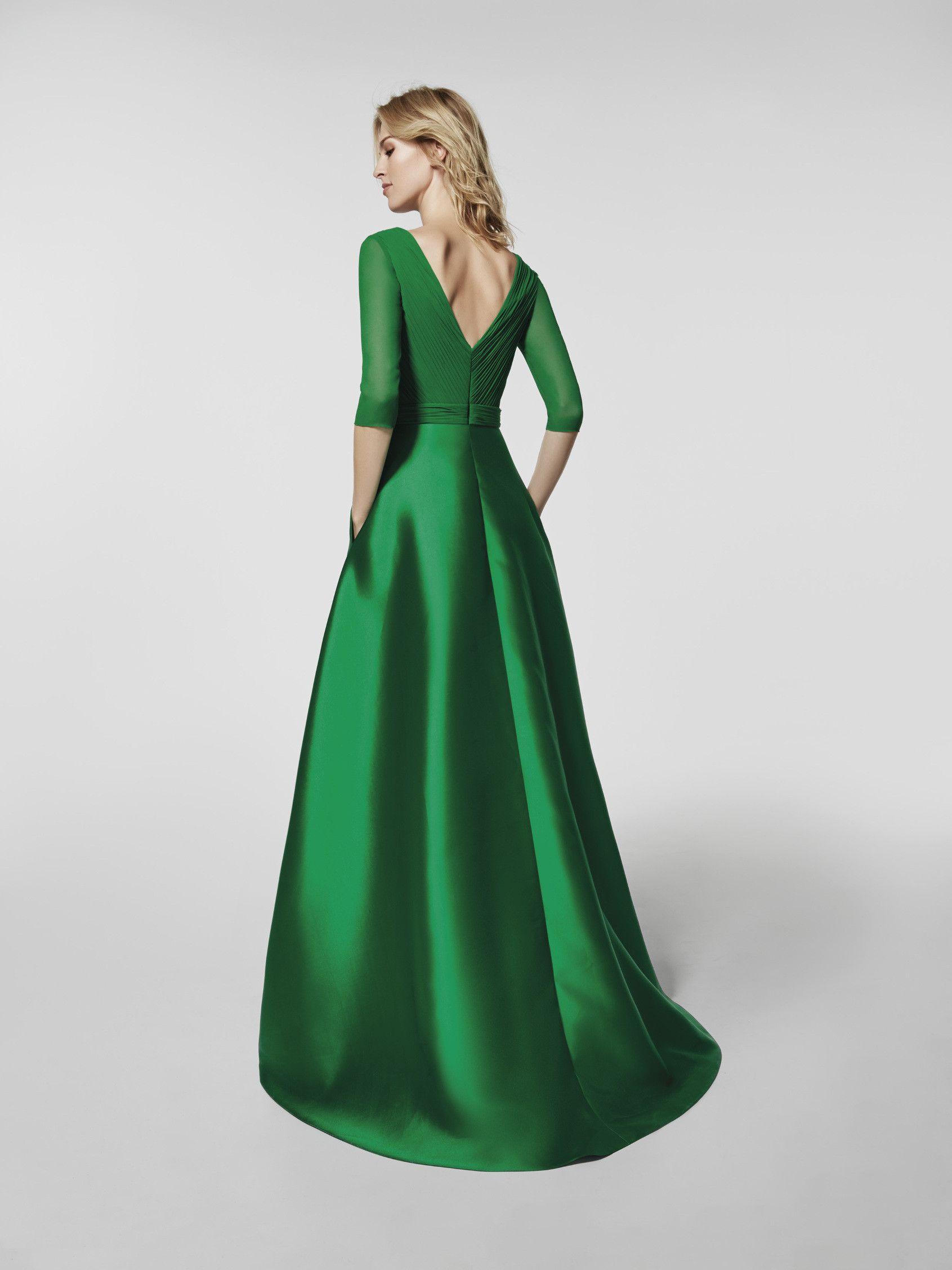 Imagen del vestido de fiesta verde (62077). Vestido GRACIELA largo ...