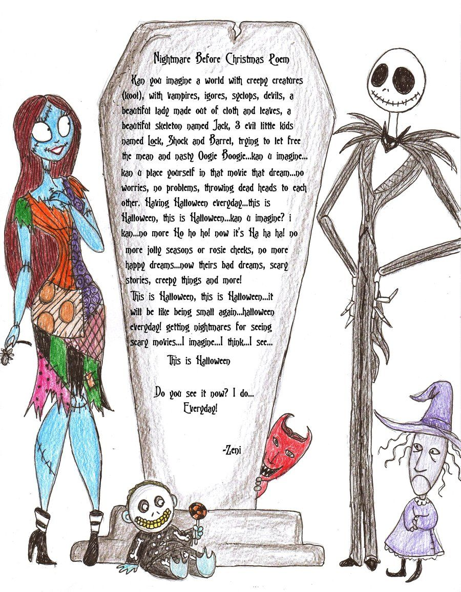 Nightmare before xmas poem by jackfreak1994.deviantart.com on ...