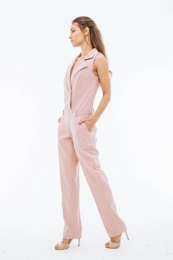elegant shape wide selection Good Prices Pink jumpsuit, pink jumpsuits, pale pink jumper, elegant ...