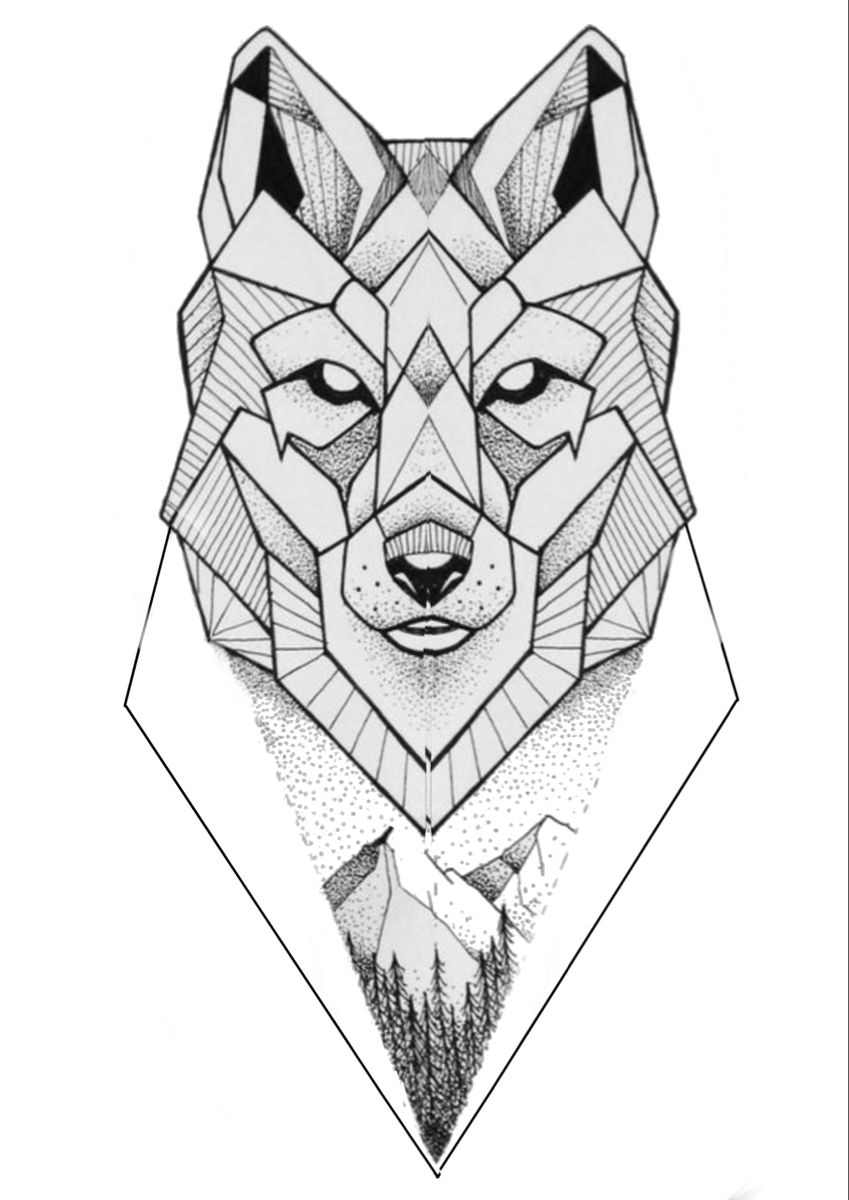 Geometry Wolf Geometric Wolf Tattoo Geometric Drawing Geometric Wolf