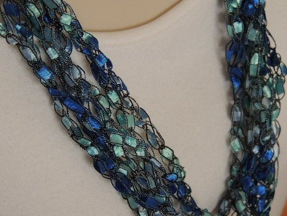 Ladder Ribbon Necklace Crochet Pattern | Crocheted with Trellis ...