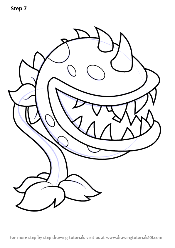 Pin By Amber Centeno On How To Draw Chomper From Plants Vs Zombies Zombie Drawings Coloring Pages Super Mario Coloring Pages