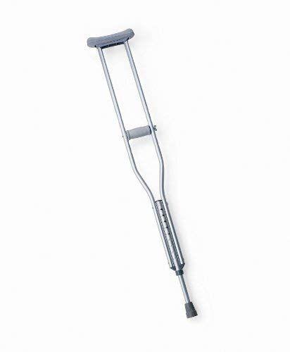 Medline MDS80534HW Push-Button Aluminum Crutches, Tall, 5