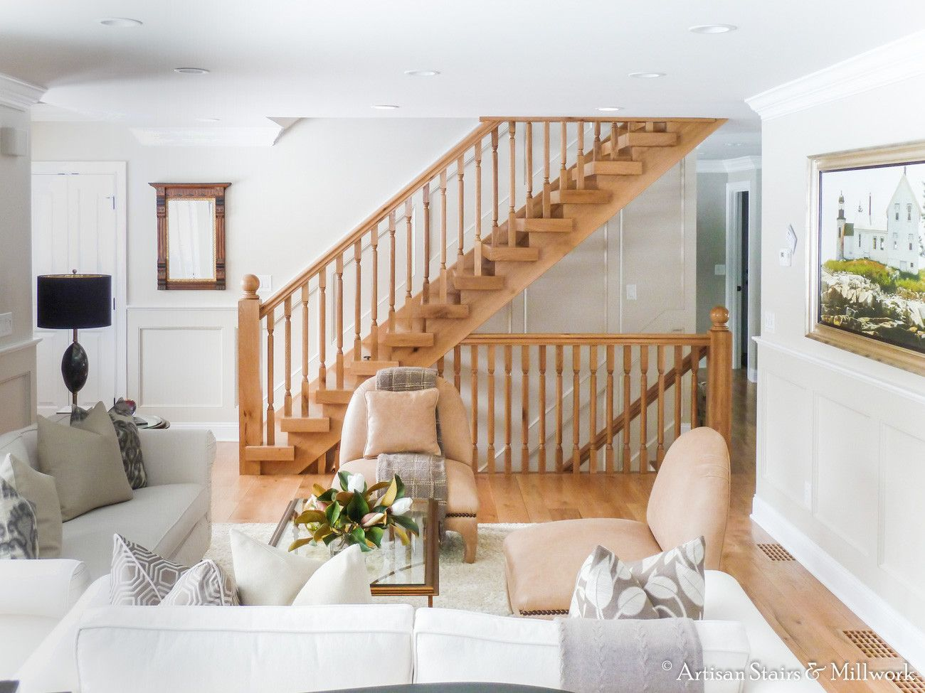 Best Longmeadow Stair Custom Character Oak Modern Stairs 640 x 480