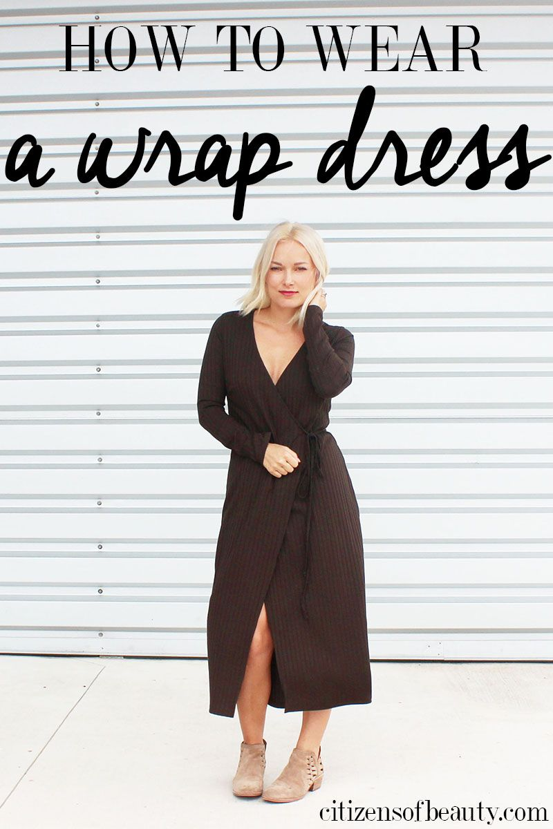 How To Wear A Wrap Dress For Fall Winter Citizens Of Beauty Wrap Dress Styles Wrap Dress Maxi Dress Outfit Fall [ 1200 x 800 Pixel ]