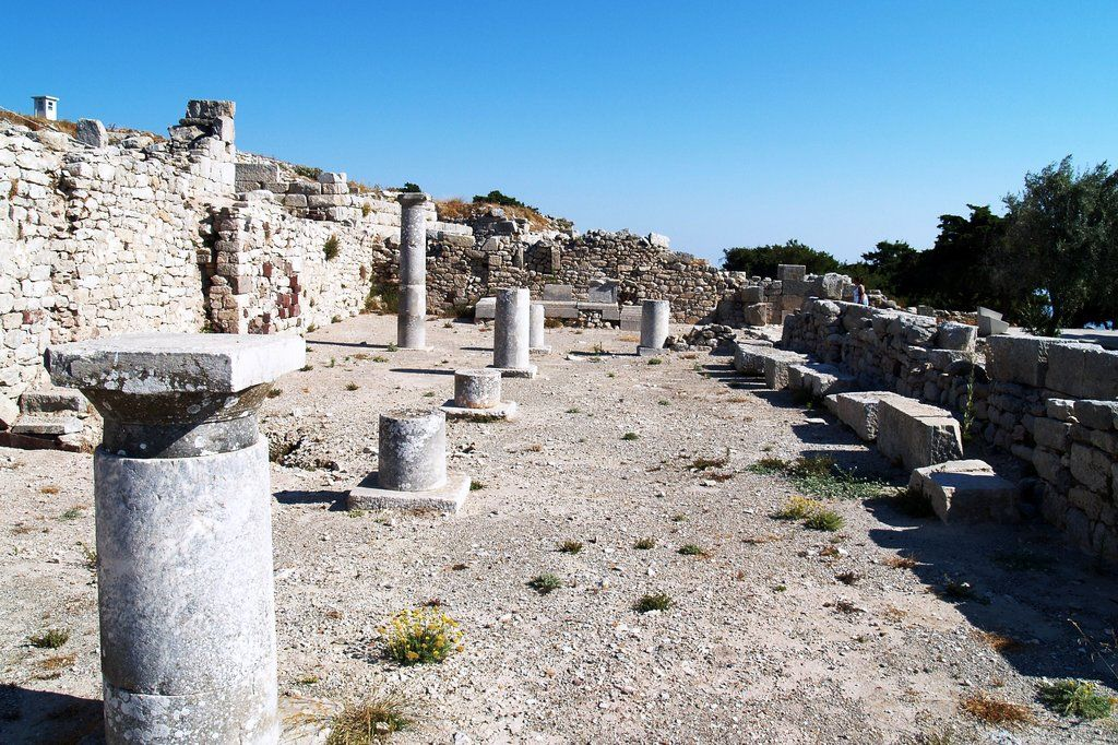 Ancient Thera Santorini Possible To Reach Site By Bus From The