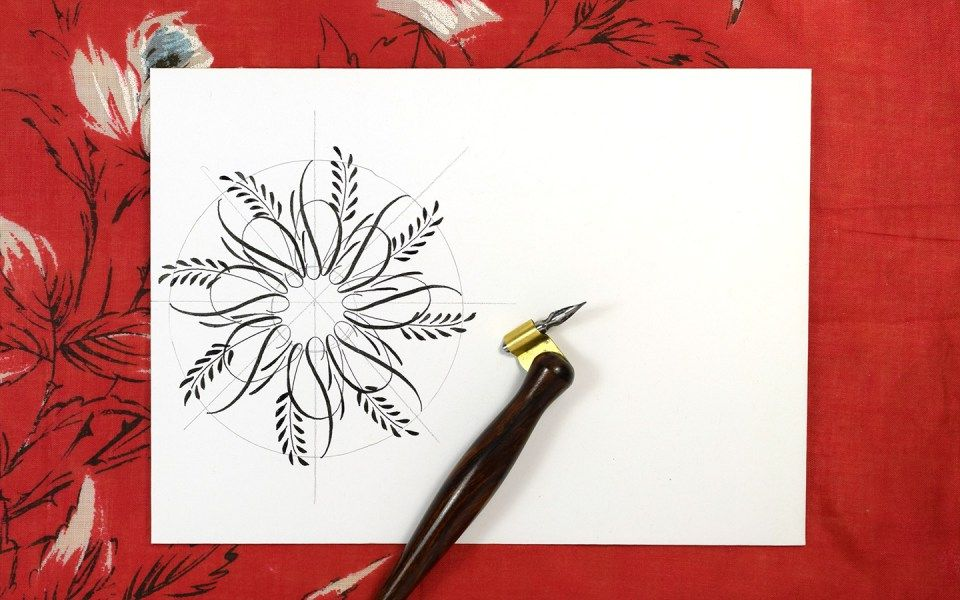 Flourished Calligraphy Medallion Tutorial Flourish