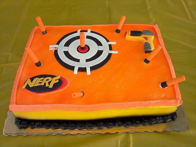 Easy Nerf Gun Cake