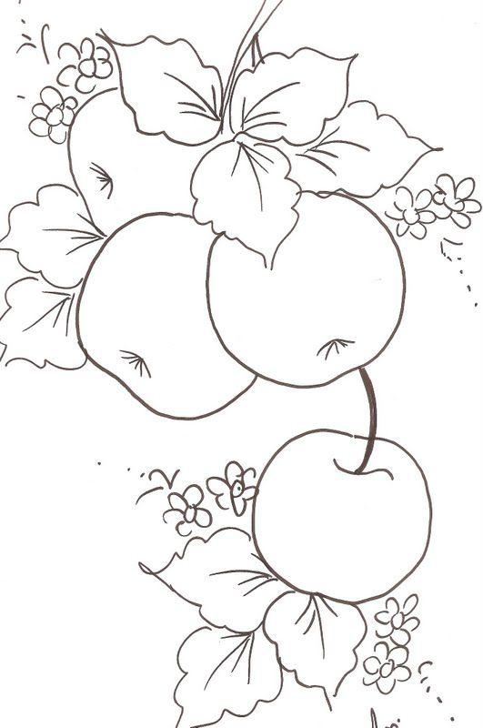 Riscos De Macas Com Imagens Desenhos De Flores Riscos Para