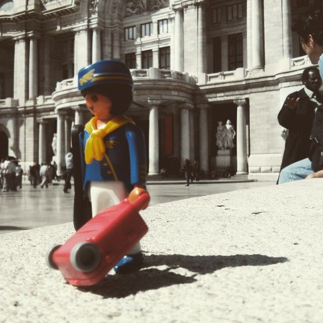 A tourist in front of Bellas Artes #mexicocity #playmobil