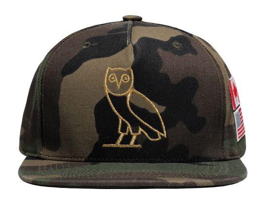 Camo Owl Flag Snapback Cap by OVO  f914663be200