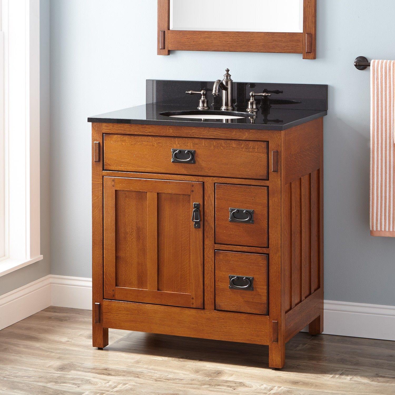 30 American Craftsman Vanity For Undermount Sink Rustic Oak Oak Bathroom Vanity Craftsman Bathroom Vessel Sink Vanity