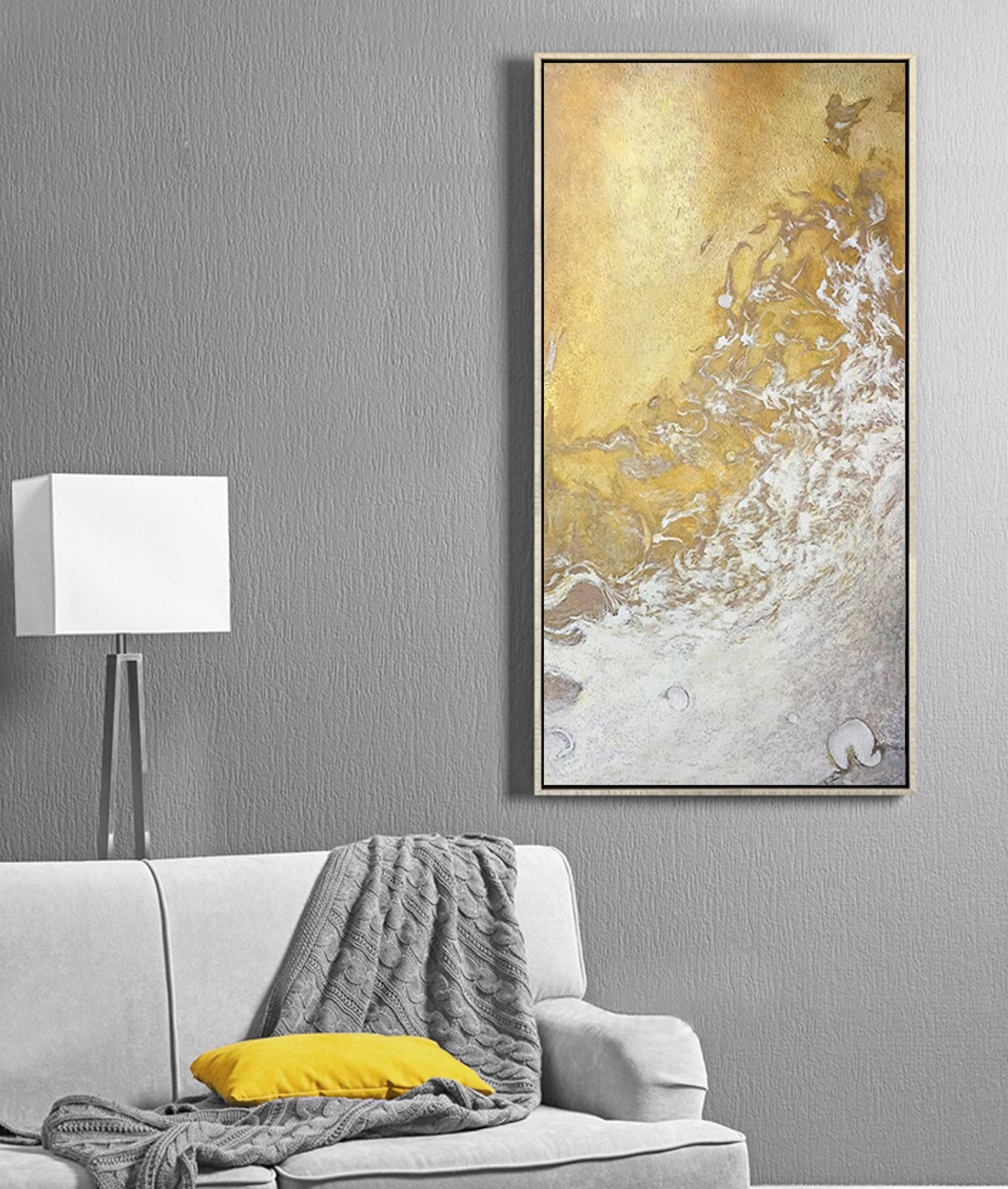 Large White Gold Abstract Art Oil Painting On Canvas Cloud Etsy Abstract Canvas Wall Art Oil Painting On Canvas Gold Art Painting