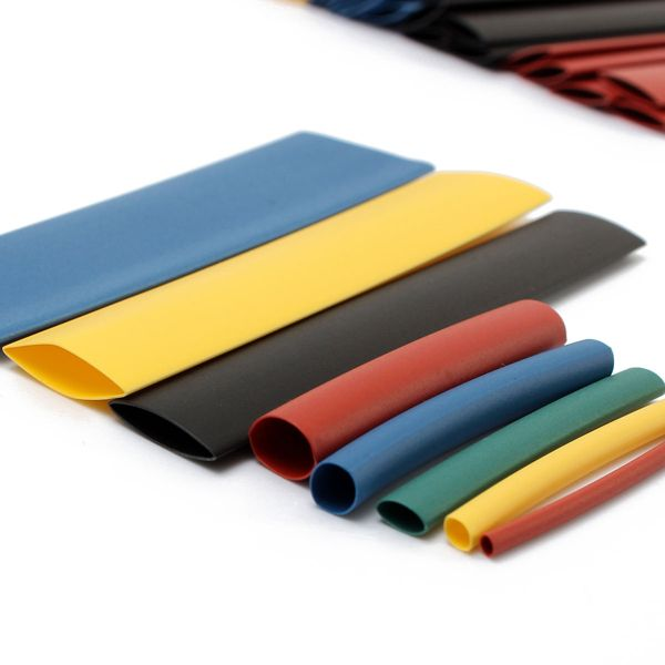 Soloop 328pcs 2: 1 Polyolefine Halogeenvrij-Free Heat Shrink Tube Sleeving 5 Kleur 8 Grootte