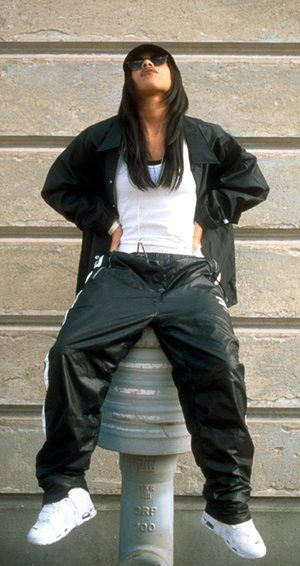 Aaliyah: fashion originator of athleisure and health goth #aaliyahfashion