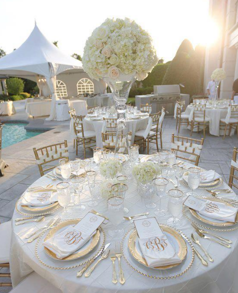 Categories White And Gold Wedding Theme