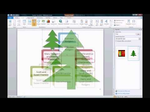 How to Make a Family Tree in Microsoft Word 2010 Genealogy - how to make a resume on microsoft word 2010