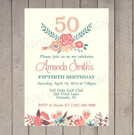 Adult Birthday Invitation 21st 30th 40th 50th Por