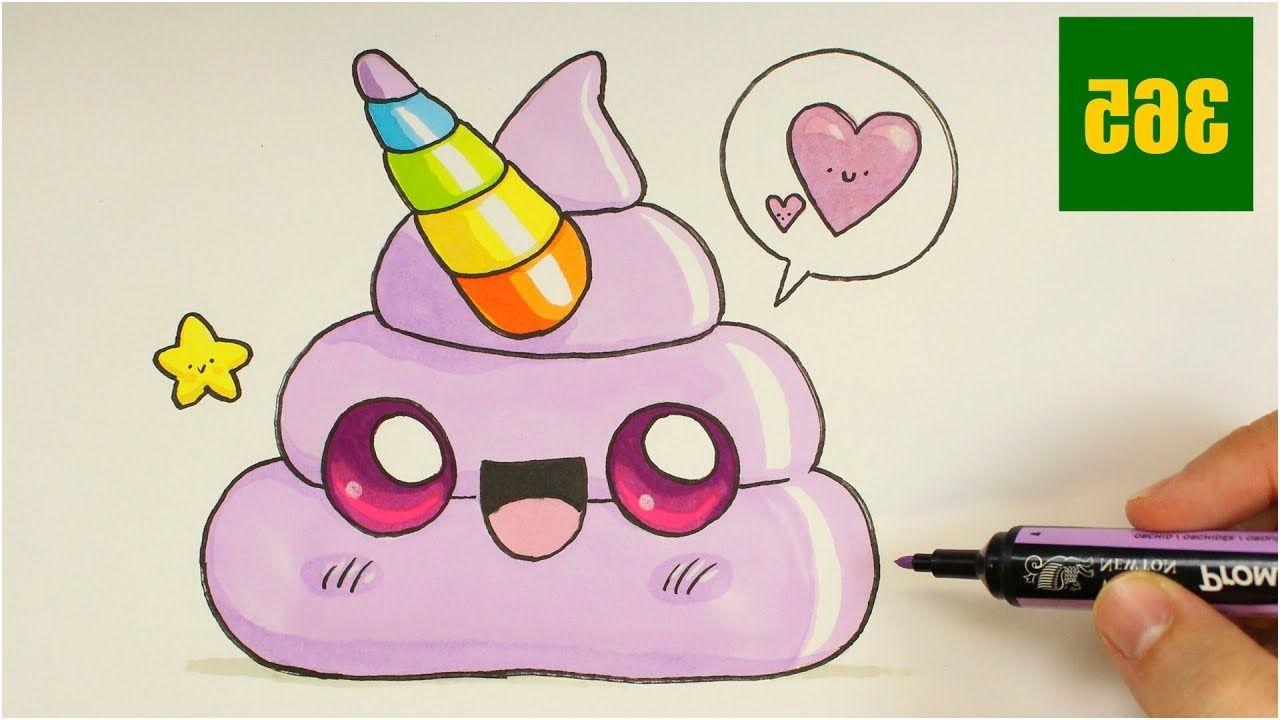 Coloriage Kawaii Licorne Nice Ment Dessiner Un Emoji Crotte