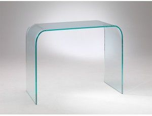 Consolle Cristallo Ingresso.Consolle In Vetro Curvato Console Home Furniture Curved