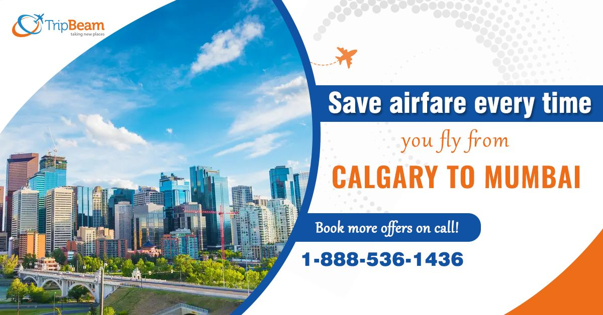 Stay ready for your next trip to India with the cheapest airfare offers. Book your Calgary to Mumbai flight now, and save ticket money.   Contact us at: 1-888-536-1436 (Toll-Free), info@tripbeam.ca.  #India #Travellers #Vacations #Destinations #Tourists #ExploreIndia #TriptoIndia #canada #Explore #deals #Caldary #Mumbai #tripbeam #SpecialDiscounts #CheapFlights #CanadatoIndia #travel