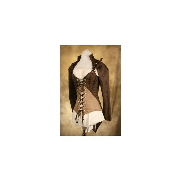 Steampunk Top DIY ❤ liked on Polyvore featuring tops, corset, jackets, oberteil, steam punk corset, corset tops, corsette tops and steampunk corset