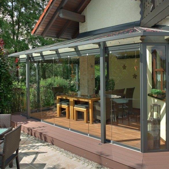 verglasung einer terrasse als anbau eines hauses im raum bamberg blumen im fahradkorb. Black Bedroom Furniture Sets. Home Design Ideas