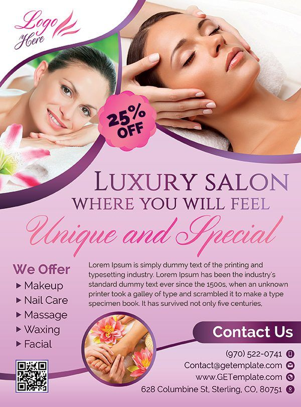 spa and beauty  u2013 premium psd flyer template