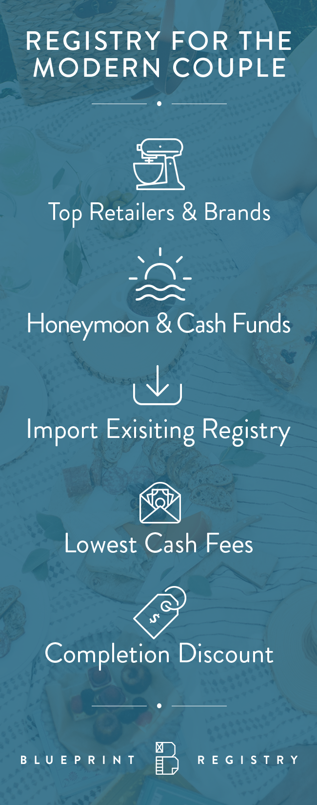 All retailers all gift types one registry learn more at add gifts from any retailer import existing registries create a honeymoon fund create a free blueprint wedding registry today malvernweather Choice Image