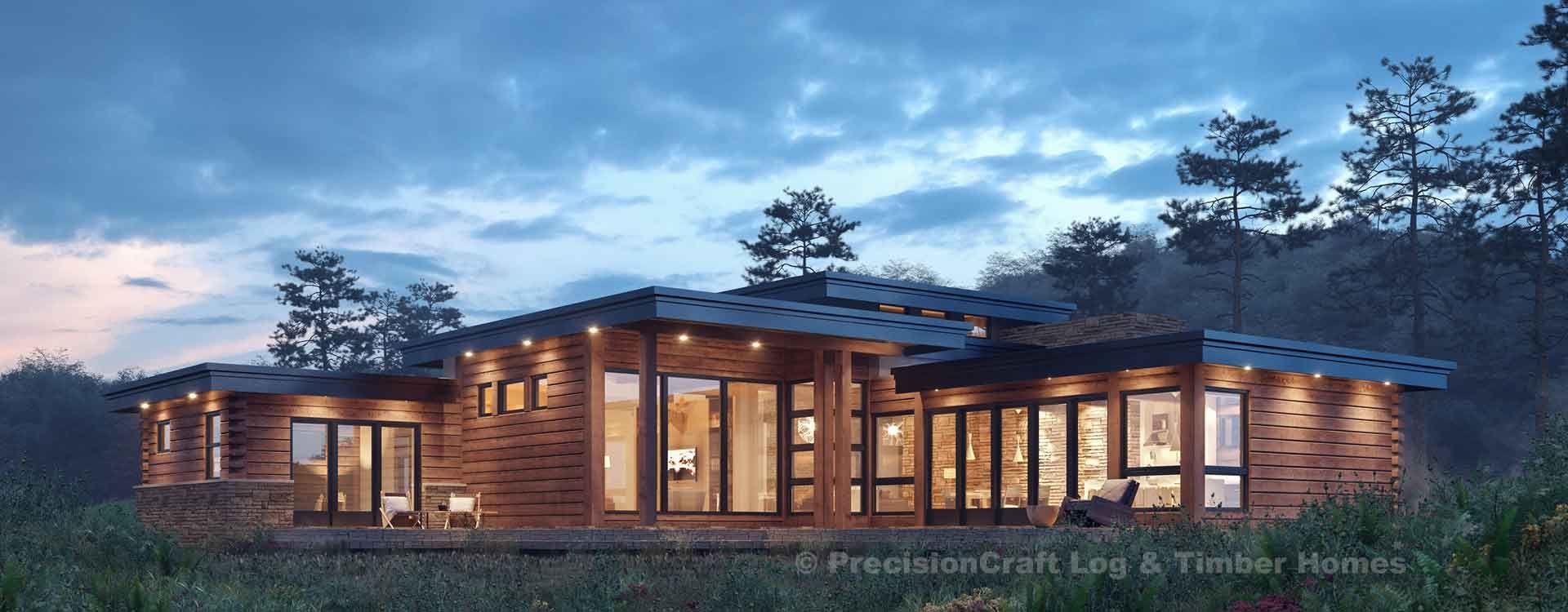 Sun Prairie Rendering Log Home Floor Plans Prairie Style Houses Log Cabin House Plans