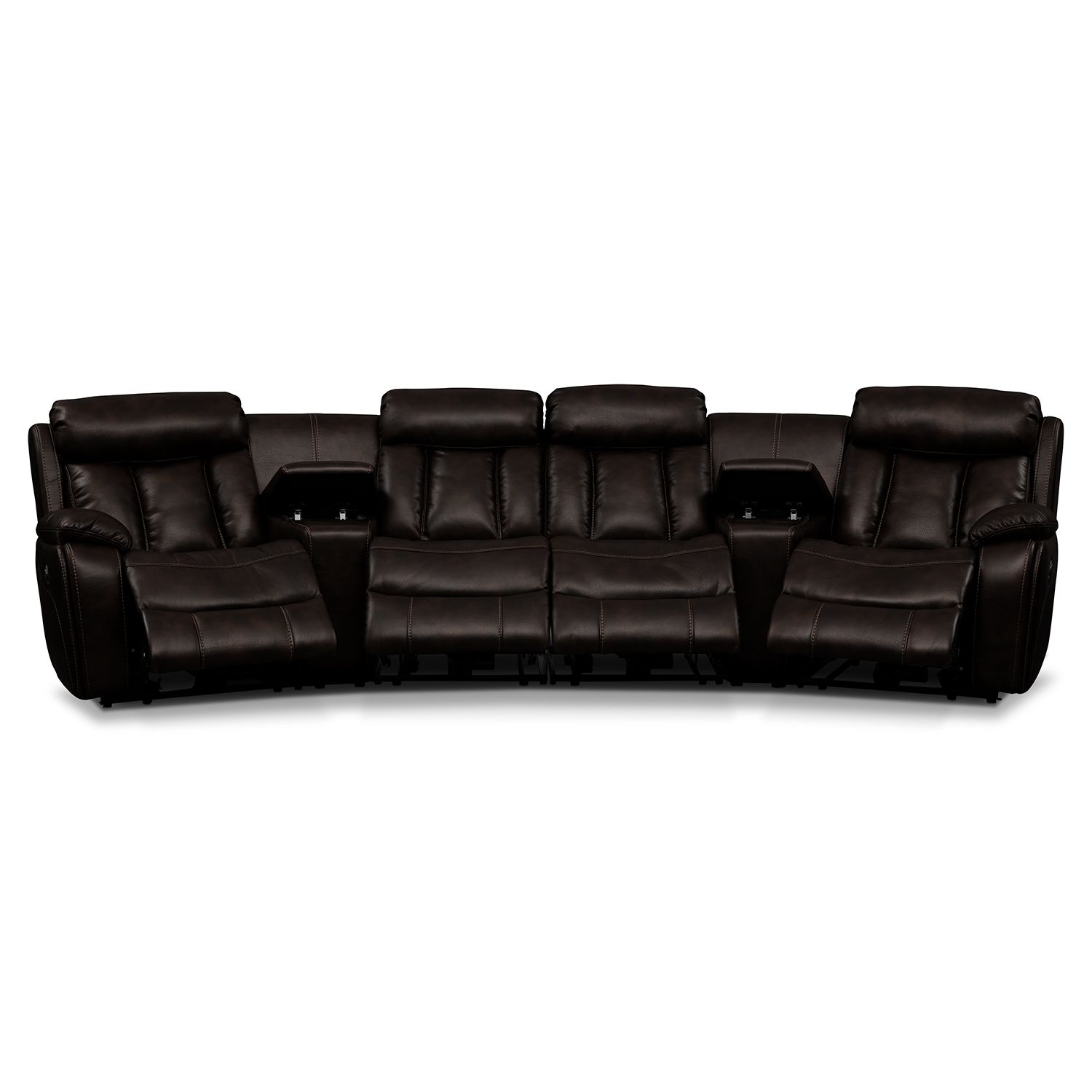 American Signature Furniture   Diablo Leather 6 Pc. Power Reclining .