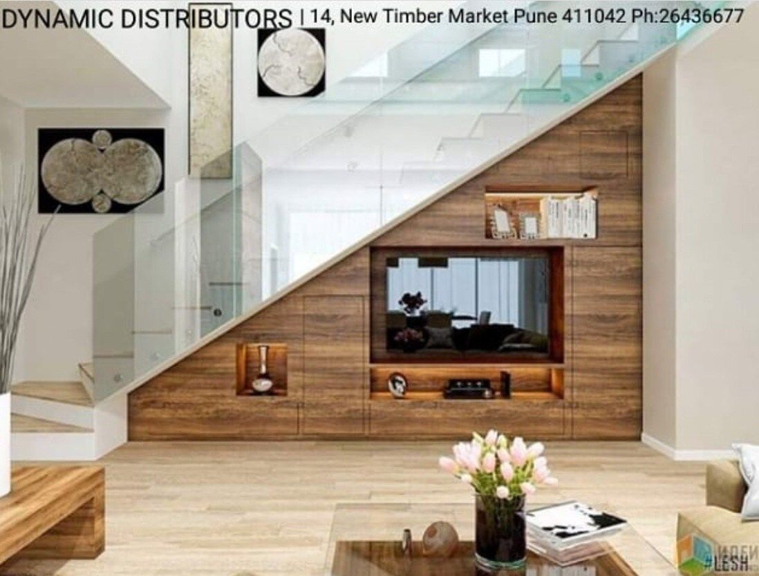30 Amazing Tv Unit Design Ideas For Your Living Room The Wonder Cottage Stairs Design Staircase Design Room Under Stairs
