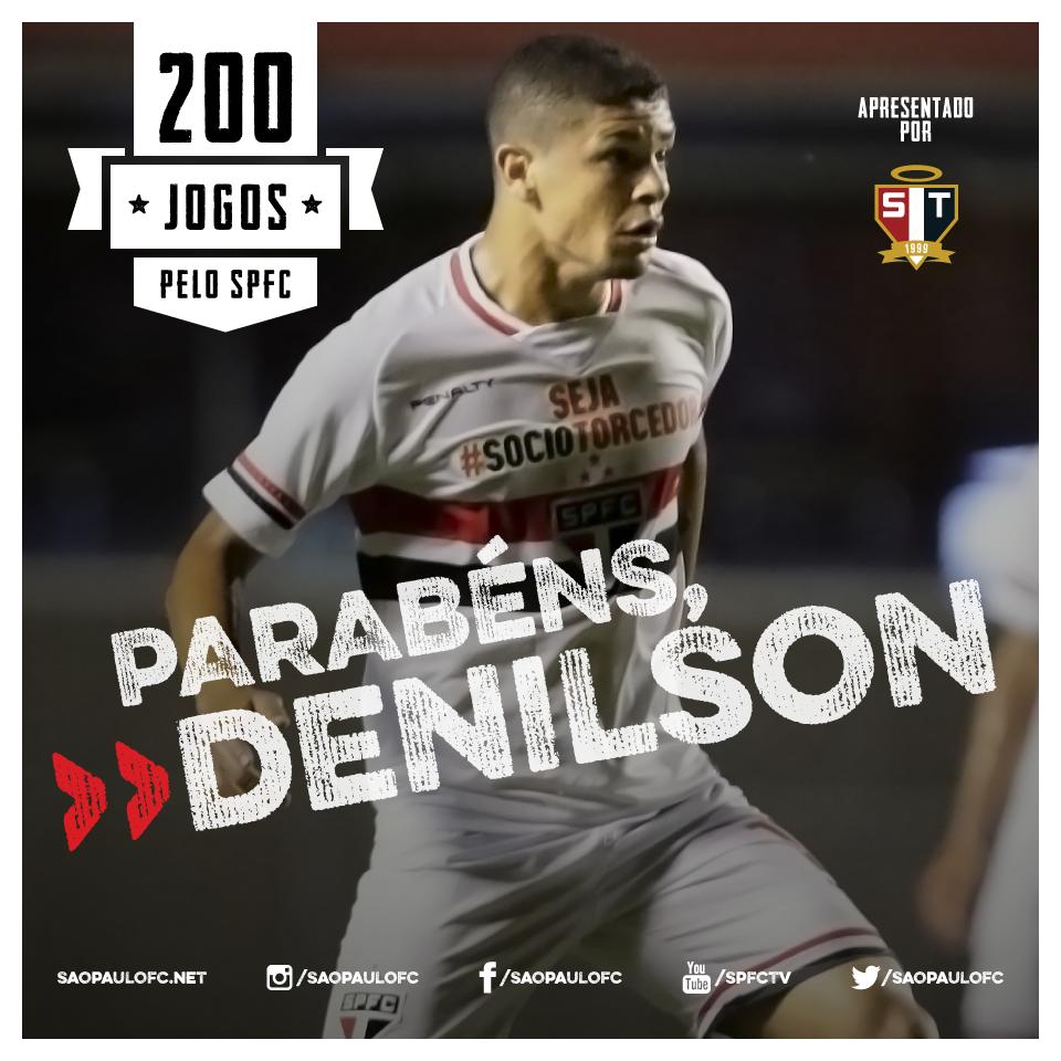 25.03.2015 - Denilson alcança 200 jogos defendendo o São Paulo