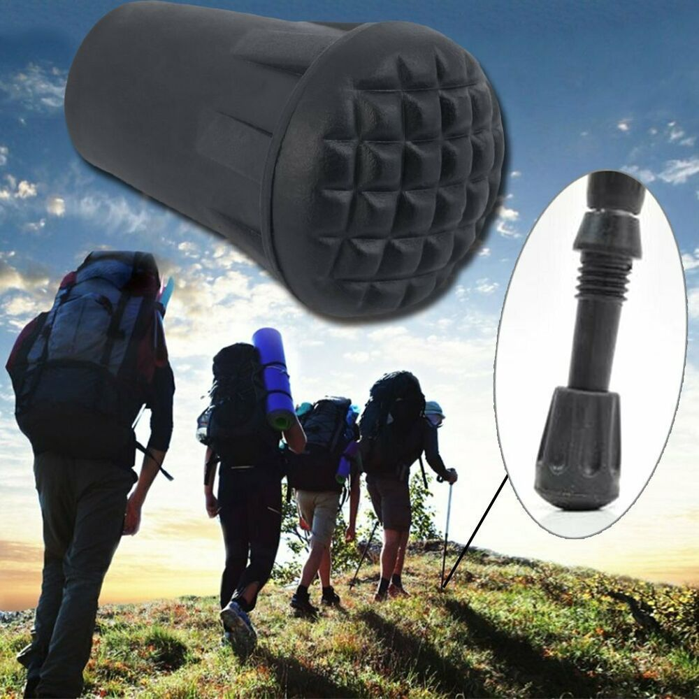 5pcs Trekking Pole Tip Walking Stick Caps for Outdoor Hiking and Climbing