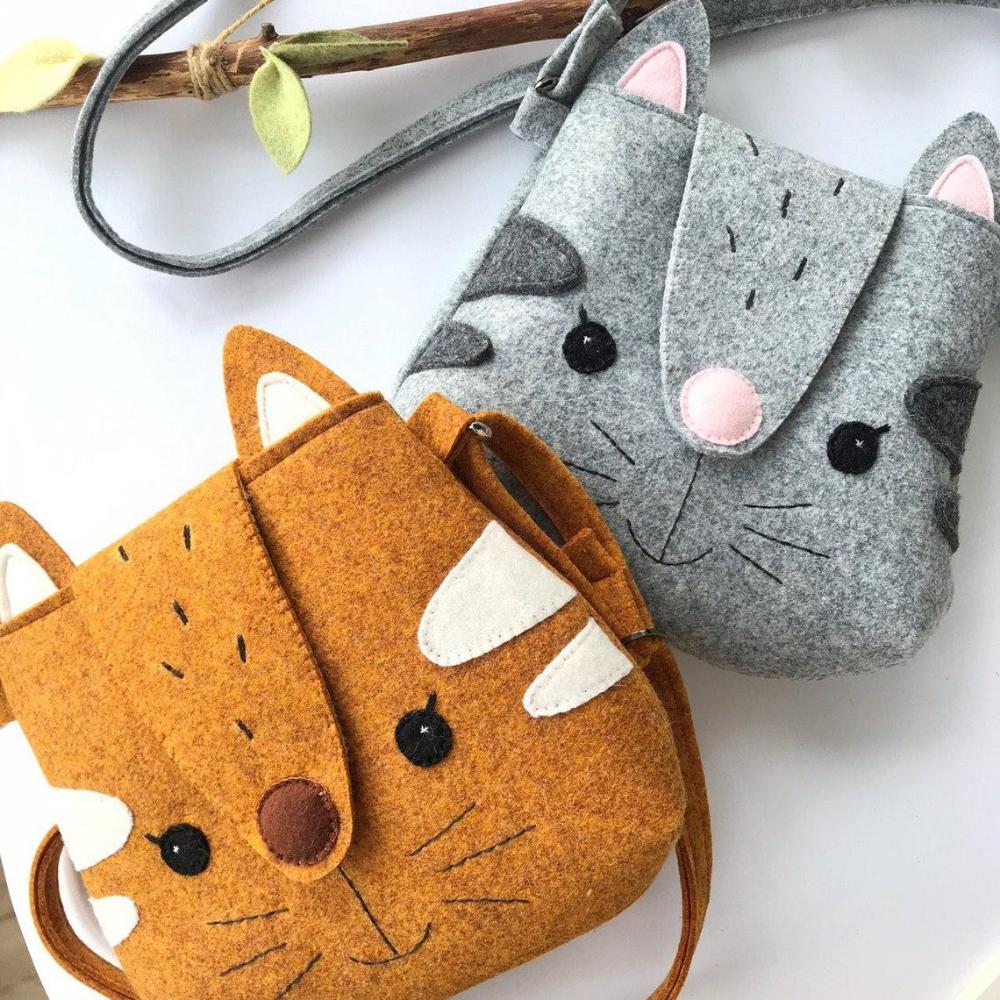 Tote Felt Bag Pdf Pattern Cat Purse Svg Felt Bag Patchwork Bags Felt Tote Bag [ 1000 x 1000 Pixel ]